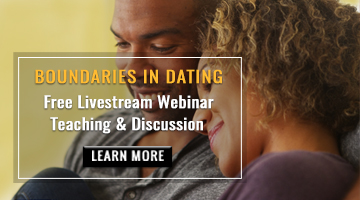 Webinar on Boundaries in Dating based on the book by Dr. Henry Cloud & Dr. John Townsend. Sign up information.