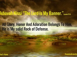"""Jehovah-Nissi """"The Lord my Banner"""""""