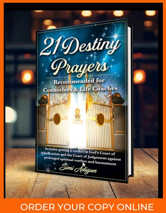 21 Destiny Prayers Book Image